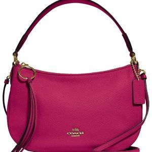 NEW Coach Sutton leather pink crossbody purse